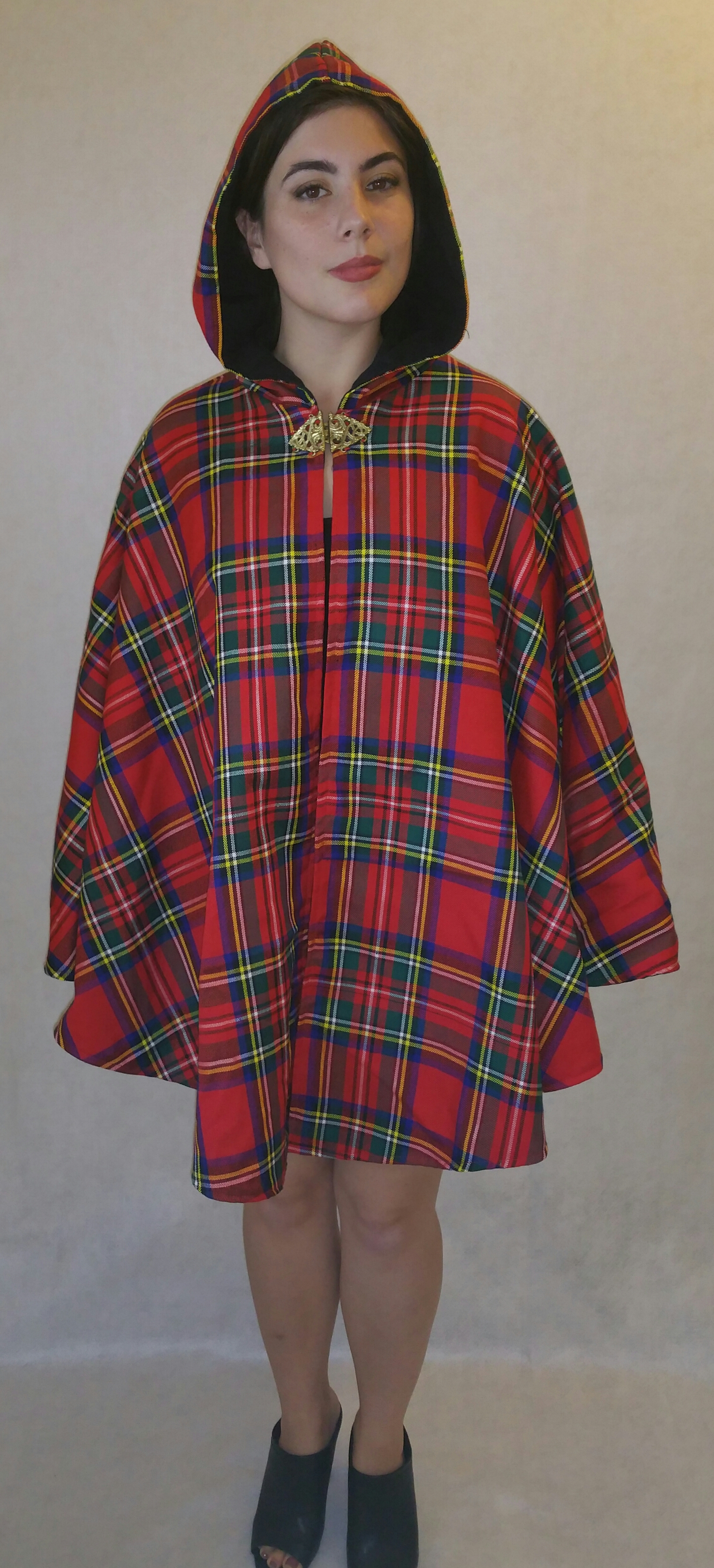 Plaid Capelets and Capes